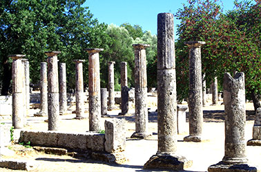 ruines in olympia